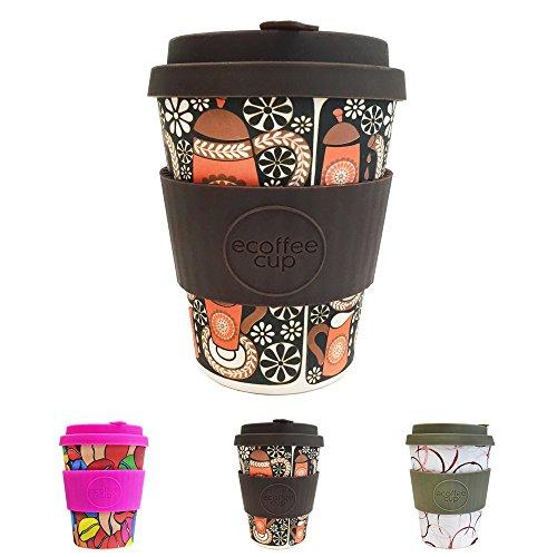 Ecológico taza Ecoffee bambú 350 ml morning coffe por kaufdichgrün compatible con el café project cascada I taza cafe para llevar y tapa