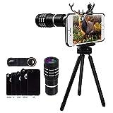 Evershop 10X Teleobjektiv für iPhone -[Support 1500M] Handy Kameraobjektiv Manuelle Fokus Teleobjektiv für iPhone 8/ 8Plus/ 7/7Plus/6 Plus 6S Plus/ 6 6S/5 5S