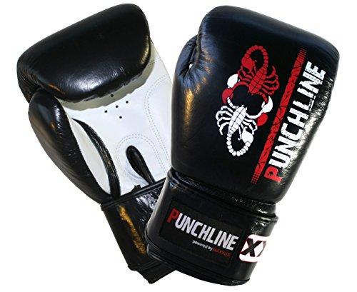 Punchline Jugend Leder Boxhandschuh 10 Unzen - der ideale Jugend- und Frauen- Boxhandschuh in Top Qualität! (Top-10-boxhandschuhe)