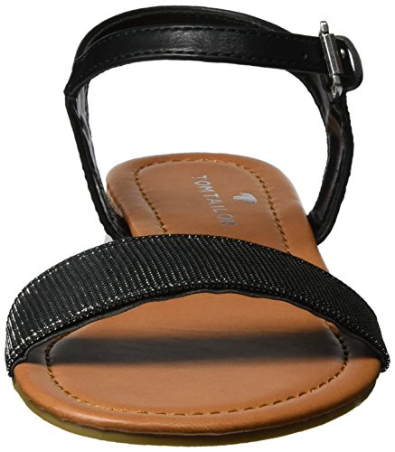 TOM TAILOR Damen 279900930 Sandalen Schwarz (Black)