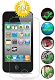 Smartphone-Equipment [2er Pack] Panzerglas für Apple iPhone 4, 4S gehärtetes Glas 9H, Echtglas Glasfolie Schutzfolie Bildschirmfolie Panzerfolie Glas Folie Bildschirmschutz