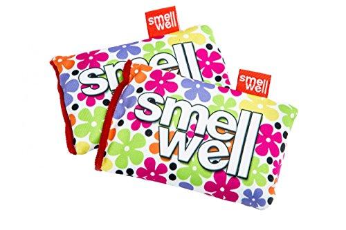 SMELLWELL® DUFTSÄCKCHEN / DUFTBEUTEL 2er-/4er-/8er-Pack (Geruchs- und Feuchtigkeitsabsorbierend Bakterientötend ohne Bakterizide Umweltfreundlich), SmellWell:SmellWell 1 Flowers