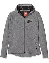 Nike G Nsw Tch Flc Hdy Fz - Sudadera para niña, color gris, talla XL