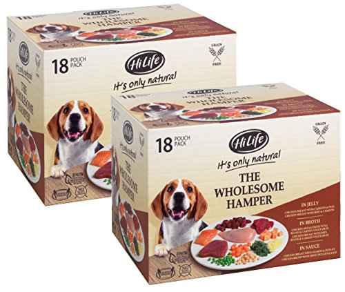 HiLife It's only Natural Premium Dog Food, The Wholesome Hamper, 36 x 100g Pouches