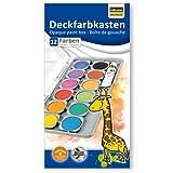 Idena 22061 - Deckfarbkasten mit 12 Farben und 1 Tube