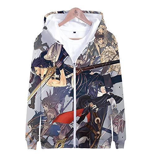 LEILEITX Unisex 3D Printed Jacket Costume Zipper Pullover Breathable Hoodies Patterned Sweatshirts Zipper Fire Emblem - Fire Emblem Hoodie