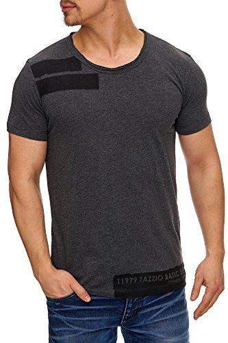 Tazzio Herren Rundkragen T-Shirt 17103 Anthrazit