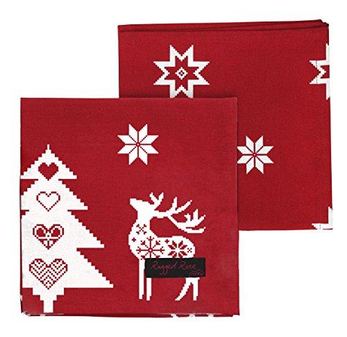Xmas Servietten, rot, 4Stück (Red Christmas Table Runner)