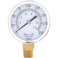 """TS 50TS-40 Manómetro de Presión de Aire de 1/4"""" NPT 0-14 Bar 0-200 Psi Digital de Escala Doble"""