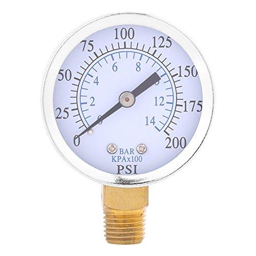 Druckluft-Manometer/Hydraulikmesser 1/4 Zoll NPT 0-200PSI Manometer 0-14 bar -