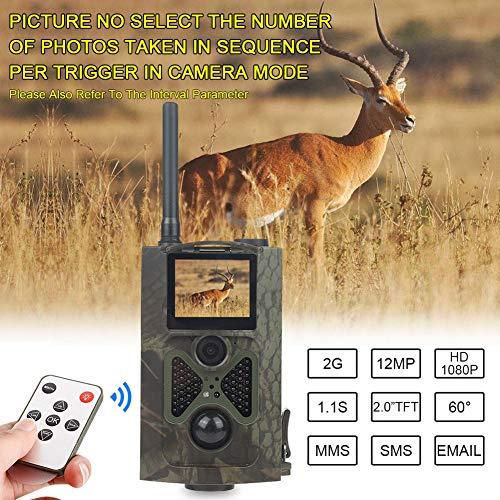 MC.PIG Wildkamera Jagdkamera 2MP 1080P HD Game & Trail-Jagdkamera No Glow Infrarot-Scouting-Kamera Nachtsicht bis zu 75 m mit 940nm IR-LEDs und wasserdichtem IP54