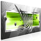 decomonkey Bilder Abstrakt 120x40 cm 1 Teilig Leinwandbilder Bild auf Leinwand Vlies Wandbild Kunstdruck Wanddeko Wand Wohnzimmer Wanddekoration Deko 3D Kugeln schwarz grün