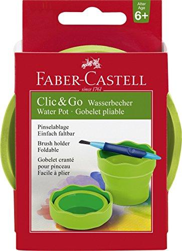 Faber-Castell 181570 - Wasserbecher Clic und Go, Lernmaterialien, hellgrün Wasser Becher