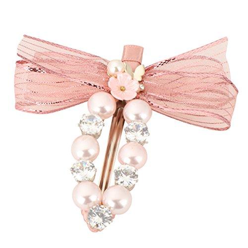 MagiDeal Pinces à Cheveux Métallique Épingles de Cheveux Bijoux Femme Mariée - Rose