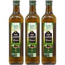 Jardin Bio - Huile d'Olive Vierge Extra Douce bio - 75 cl - Lot de 3