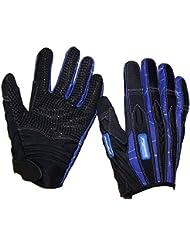 madlad Pro Pro-Biker Guantes, color negro/azul, tamaño small