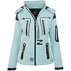 Geographical Norway-Chaqueta multifunción softshell impermeable para mujer azul turquesa L