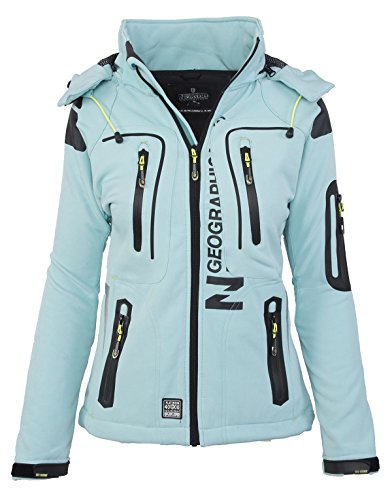 Geographical Norway Damen Softshell Outdoor Jacke Tassion abnehmbare Kapuze Test