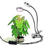 Asvert Pflanzenlichter LED Pflanzenlampe mit Doppelkopf 16W 32 LEDs Pflanzenleuchte 2 verstellbare Lichtmodi 360° Einstellbar für Wasserpflanzen Topf- und Zimmerpflanzen Saatgut Blumen Gemüse EU Stecker