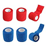 "Adhesive Elastic Bandage Self Adhering Stick Athletic Tape Wrap/Vet Tape Wrap - 2"" Sports Power Wrap First Aid Tape for Sprain Swelling Wound Support and Medical Supplies, 6 Rolls"