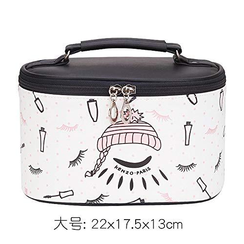 Kosmetiktasche weibliche net rot große Kapazität Kosmetik Aufbewahrungstasche Box Korea tragbare Kosmetiktasche portable_Fun World Black (Large) (World Fun Net)