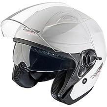 NOX casco jet N124, color blanco barnizado