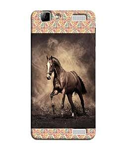 PrintVisa Designer Back Case Cover for Vivo V1 Max (Chetak Running Horses Arab Arabi Farm House)