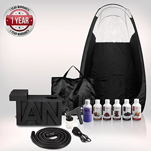 Tanning essentials studio abbronzante spray abbronzante kit compreso tenda e gratis suntana soltuions