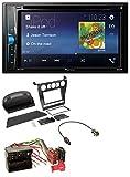 caraudio24 Pioneer AVH-A200BT USB DVD 2DIN Bluetooth CD MP3 Autoradio für BMW 5er (E60 2003-2007)