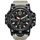 Daesar Reloj Hombre Moda Reloj Deportivo Reloj Multifunción Relojes Electronicos Relojes Unisex Reloj Hombre Reloj Impermeable Negro Beige