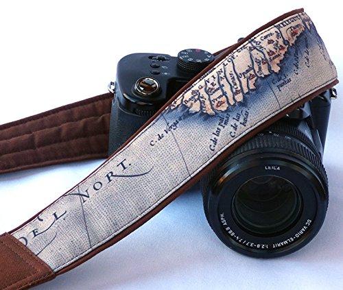 Vintage Weltkarte Kameragurt. SLR, DSLR-Kamera Gurt für Nikon, Canon, Sony, anderen Kameras. Traveler Geschenk. Geschenk für Fotografen. Geschenk; 198 (Herren Traveler Leder Case)