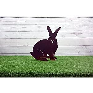 Silhouette aus Cortenstahl Garten Kaninchen