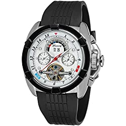 Forsining Mens Automatic Self-wind Calendar Day Brand Wrist Watches FSG291M3T4