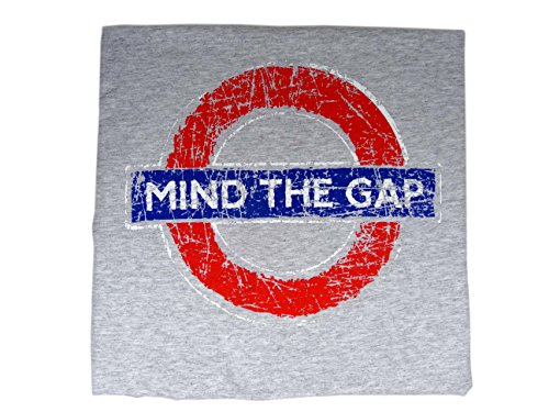london-underground-train-tube-distressed-logo-mind-the-gap-heather-grey-t-shirt-medium