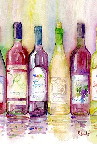 Toland Home Gartenfahne, 31,8 x 45,7 cm, dekorative Bunte Weinflasche Cabernet Zinfandel