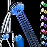 la magia de color automtica de 7 luces led cabezal de ducha de agua