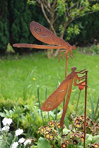 belle 2 x 50cm Metall Rost Gartendeko Edelrost (Metall Gartendeko)