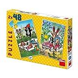 Dinotoys 381285 Qualität Puzzle;Kleines Maulwurf-Motiv, 2x48 Stück