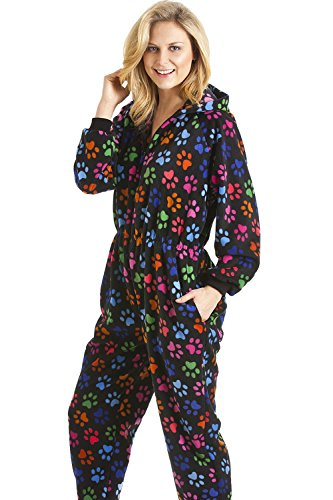 Camille Various Colour Multi-Coloured Paw Print Onesie