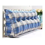 fzw Jute Rückenkissen Tatami Sofa großes Kissen (Farbe : Blau, größe : 180cm)