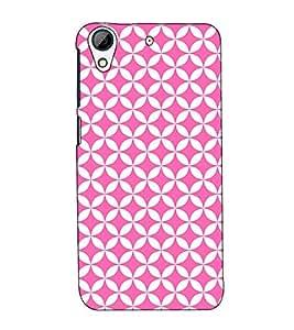 Fuson Designer Back Case Cover for HTC Desire 728 Dual Sim :: HTC Desire 728G Dual Sim (Pink designer pattern)