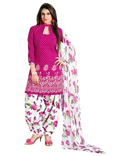 Women's Clothing Dress Material Designer Party Wear Today Offers Low Price Sale buy online Top Blue Color Cotton Fabric Free Size Salwar Suit Dupatta  available at amazon for Rs.199