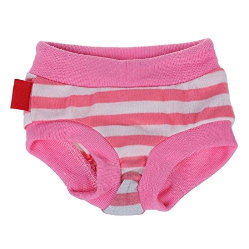 TOOGOO(R)Pantaletas pantalon sanitario para perro mascota hembra Panal de rayas Bragas - Cintura: Aprox. 12,5 pulgadas / 32 cm