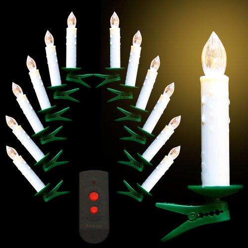 84 LED Mini Christbaumkerzen mit TÜV cremefarbig kabellos, klein, leuchtstark, bis 180 Stunden Brenndauer, warm-weiß, leicht inklusive Infrarot-Fernbedienung Weihnachtsbaumbeleuchtung Lichterkette Weihnachtsbaumkerzen Baumkerzen Adventskerzen Weihnachtsdeko Weihnachtsdekoration Kerzen