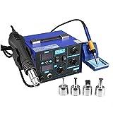 Stazione saldatura aria calda SMD attrezzatura per saldare con accessori Professionale (2 in1 862D)