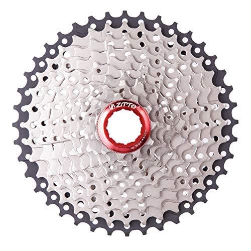 DEjasnyfall Klapp Mountainbike 11-40 T Schwungräder Fahrrad 10 Geschwindigkeit Karte Typ Schwungrad Fahrrad Klappfahrrad Kassette Fahrrad Freilauf (Silber + Schwarz) (10 Geschwindigkeit Fahrrad)