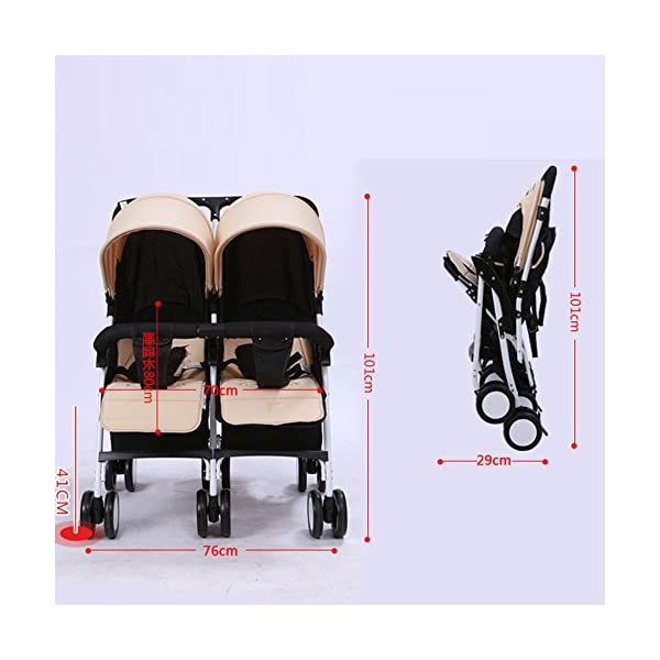 YIHANGG Twins Baby Pram 2 In 1 Baby Stroller Pushchair Summer Infant Convenience Stroller Twin Stroller,Green YIHANGG Backrest adjustment allows baby to sit, lie down, sleep and feel truly comfortable Easy to handle with lockable and swivelling front wheels The large storage basket underneath is ideal for holding purses, groceries, and diaper bags 2
