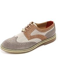 B5747 scarpa inglese uomo PEREGO SHOES scarpe grigio/blu shoe man [40]
