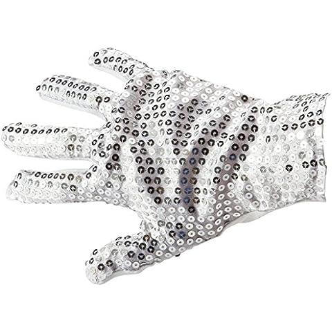 guantes de lentejuelas de Michael Jackson plata