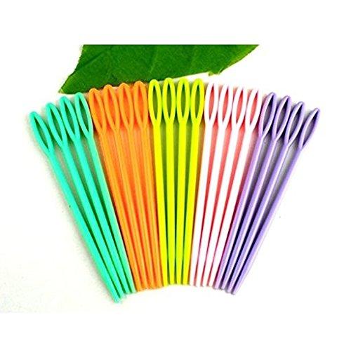 TrifyCore Aguja plástica 7 cm para niños. Adecuado para Coser, Binca y Tapiz
